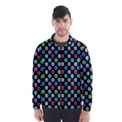 Death Star Polka Dots In Multicolour Wind Breaker (men)