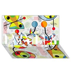 Happy day BEST BRO 3D Greeting Card (8x4)