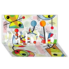 Happy day #1 DAD 3D Greeting Card (8x4)