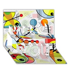 Happy Day Miss You 3d Greeting Card (7x5)