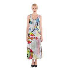 Happy day Sleeveless Maxi Dress