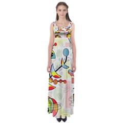 Happy day Empire Waist Maxi Dress