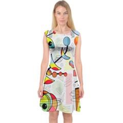 Happy day Capsleeve Midi Dress
