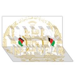 National Emblem Of Afghanistan Happy New Year 3d Greeting Card (8x4)