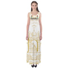 National Emblem Of Afghanistan Empire Waist Maxi Dress