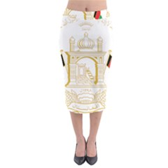 National Emblem Of Afghanistan Midi Pencil Skirt