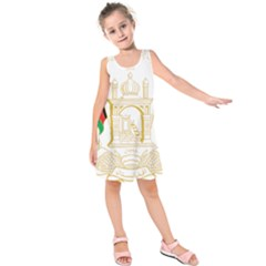 National Emblem of Afghanistan Kids  Sleeveless Dress