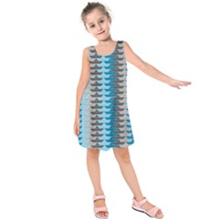 Pattern Boats Background Ship Kids  Sleeveless Dress
