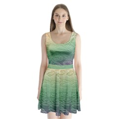 Plants Nature Botanical Botany Split Back Mini Dress