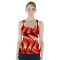 Red Fractal  Mathematics Abstact Racer Back Sports Top