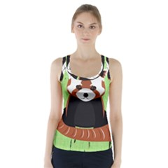 Red Panda Bamboo Firefox Animal Racer Back Sports Top
