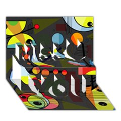 Happy Day 2 Miss You 3d Greeting Card (7x5)
