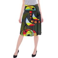 Happy day 2 Midi Beach Skirt