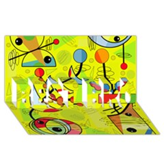 Happy day - yellow BEST BRO 3D Greeting Card (8x4)