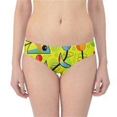 Happy day - yellow Hipster Bikini Bottoms