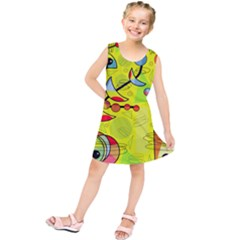 Happy day - yellow Kids  Tunic Dress