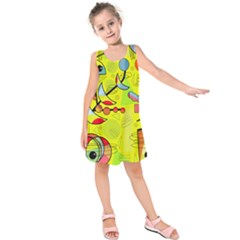 Happy day - yellow Kids  Sleeveless Dress