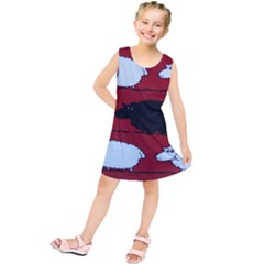 Sheep Pattern Kids  Tunic Dress
