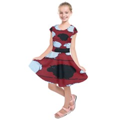 Sheep Pattern Kids  Short Sleeve Dress