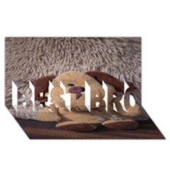 Stuffed Animal Fabric Dog Brown Best Bro 3d Greeting Card (8x4)