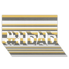 Textile Design Knit Tan White #1 Dad 3d Greeting Card (8x4)