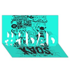 Typography Illustration Chaos #1 Dad 3d Greeting Card (8x4)