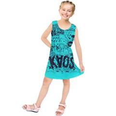 Typography Illustration Chaos Kids  Tunic Dress