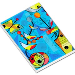 Happy day - blue Large Memo Pads