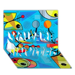 Happy Day   Blue You Are Invited 3d Greeting Card (7x5)
