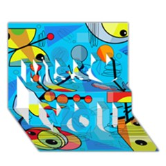 Happy Day   Blue Miss You 3d Greeting Card (7x5)