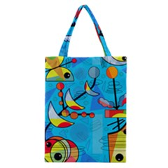 Happy day - blue Classic Tote Bag