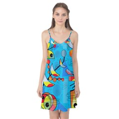 Happy day - blue Camis Nightgown
