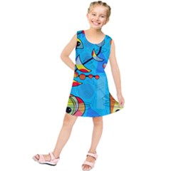 Happy Day   Blue Kids  Tunic Dress