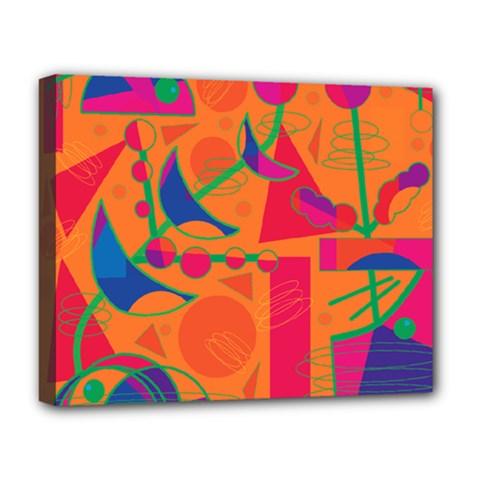 Happy day - orange Deluxe Canvas 20  x 16