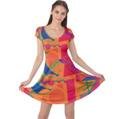 Happy day - orange Cap Sleeve Dresses