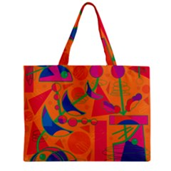 Happy day - orange Zipper Mini Tote Bag