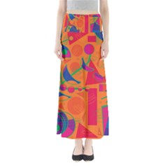 Happy day - orange Maxi Skirts