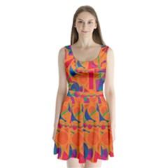 Happy day - orange Split Back Mini Dress