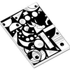 Happy day - black and white Large Memo Pads