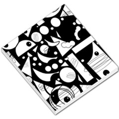 Happy day - black and white Small Memo Pads