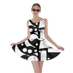 Happy day - black and white Skater Dress