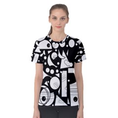 Happy Day   Black And White Women s Cotton Tee