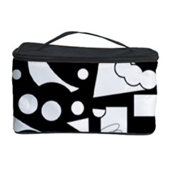 Happy day - black and white Cosmetic Storage Case