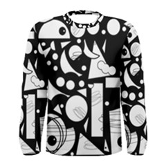 Happy day - black and white Men s Long Sleeve Tee