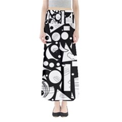 Happy day - black and white Maxi Skirts