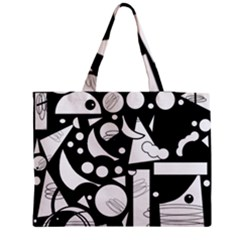 Happy Day   Black And White Medium Tote Bag