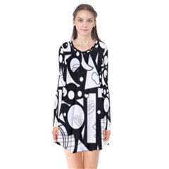 Happy Day   Black And White Flare Dress