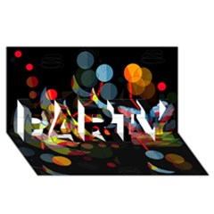 Magical night  PARTY 3D Greeting Card (8x4)
