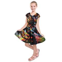 Magical night  Kids  Short Sleeve Dress