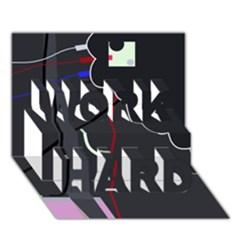 Plug in WORK HARD 3D Greeting Card (7x5)